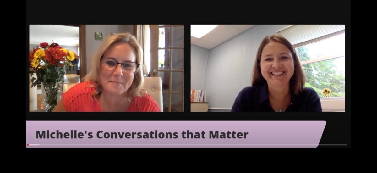 Janet Sarkos speaks to Michelle's Conversations That Matter | Caring Contact